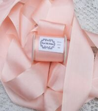 "100% PURE SILK  RIBBON [36MM] 1 1/2"" WIDE ~ PEACHY/PINK ~COLOR ~ 5 YRDS"