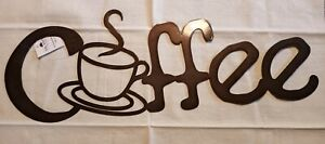 Metal Cut Out Letter COFFEE CUP SIGN Kitchen Coffee Shop Wall Hanging 20 inches