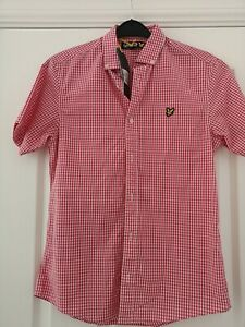 Lyle & Scott Size XS Gingham Shirt new with tags teenage/mens