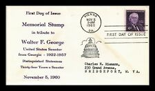 DR JIM STAMPS US WALTER GEORGE GEORGIA SENATOR UNSEALED FDC COVER