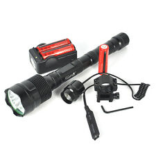6000LM XML T6 LED Flashlight 3T6 Torch Pressure Switch Mount +3X18650+Charger