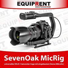 Sevenoak micrig DSLR/videocámara Cage con asa de transporte y micrófono estéreo (eqf84)