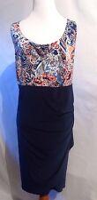 MSK Sparcle Glitter Drapped  Dress  Size 24W # E 220