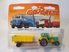 1977 Majorette 316 Tracteur & Remorque 1:65 Farm Tractor #208 & Trailer France