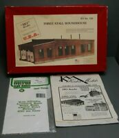 Korber Models Hometown USA Kits HO Scale Three Stall Roundhouse Kit #104