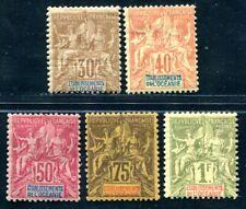 OCEANIE 1892 Yvert 9-13 * HÖCHSTWERTE 178€(D8925
