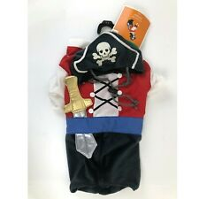 Halloween Dog Costume Pirate Pet Outfit Hat Size Medium 13-20 lbs 14 - 16 inches