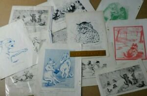 ELEVEN VARIOUS LOUIS WAIN PRINTS FROM 1890's -192O's. FROM THE BOY'S OWN PAPER.