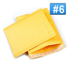 10 #6 12.5 x 19 Kraft Bubble Mailer Self Seal Padded Craft Envelope Shipping bag