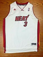 Kid's Adidas Miami Heat Dwyane Wade White Jersey XL (18-20) Stitched Embroidered