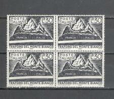 S4082 - ITALIA 1965 - QUARTINA TRAFORO DEL MONTE BIANCO  ** - VEDI FOTO