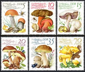 Germany DDR/GDR 2137-2142, MNH. Edible Mushrooms, 1980