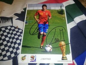 Javi Martinez hand signed spain World cup autograph card