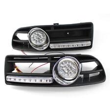LR Car BUMPER GRILLE With FOG LIGHT LED & Wiring Fit FOR VW JETTA BORA MK4 99-04