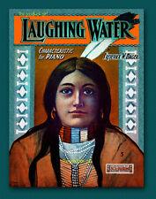 1903 Native American LAUGHING WATER 8x10 Starmer sheet music Indian Art print