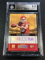 PATRICK MAHOMES 2017 CONTENDERS #3 ROOKIE OF THE YEAR SILVER /199 RC BGS 9.5 10