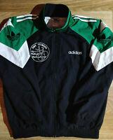 Adidas Originals 90's Vintage Mens Tracksuit Top Jacket RMV Pfungen Green Black