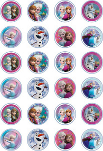 24 x Edible Cupcake Toppers - Rice / Wafer Paper - Perfect for Frozen Fans