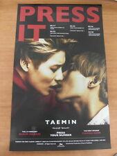 TAEMIN (SHINee) - Press It (Ver. B)  [OFFICIAL] POSTER K-POP *NEW*