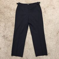 Talbots Petites Stretch Size 10 Black Wool Blend Straight Leg Career Dress Pants