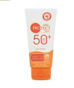 Asda Protect Face Sun Cream SPF50 Q10 Anti Age Hyaluronic Acid and Vitamin E