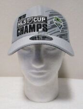 NWT New Era Seattle Sounders FC 2019 MLS Cup Champions Adjustable Hat Gray $35