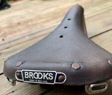 "Vintage BROOKS Champion Standard B15 Brown Leather Saddle Seat 6.75""x11"" England"