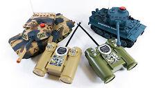 Twin Pack Bataille 2 Tank jeu Infrarouge Radio Télécommande RC infrarouge Tiger Jouet