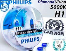 Philips H1 Diamond Vision 5000K Car Headlight Bulbs H1 12V 55W P14.5, + Blue W5W