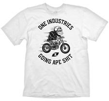 ONE INDUSTRIES MENS T-SHIRT GOING APE SH*T MOTOCROSS TEE WHITE adult mx bike