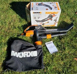 Worx TRIVAC WG509 Corded Electric Leaf Blower/Vacuum Combo with Collection Bag