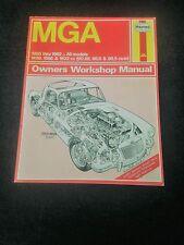 vintage MGA Owners Workshop Manual by Haynes, 1956-1962 all models, 189 pages