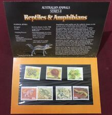 Australian Animals Series II Reptiles and Amphibians Stamp Pack F/V $3.15