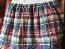 Ralph Lauren garrison Plaid Bed skirt twin ruffle
