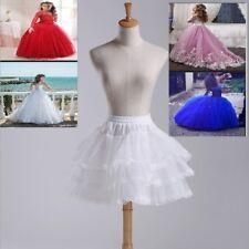 3 Layer Lolita Flower Girl Dress Petticoat Tutu Skirt Slips Pettiskirt with Lace