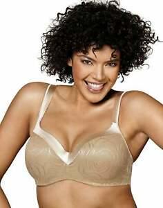 Playtex Underwire Bra Secrets Body Revelation Lace Trim Womens Balconette Smooth
