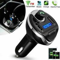 USB Bluetooth Handsfree Bluetooth FM Transmitter X19 MP3 USB Car Wireless B X9J6