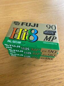 FUJI Hi8  Cassette Tapes. 3 of them. 90mins. New - Sealed in Plastic