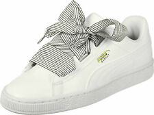 Puma Woman's White Basket Heart Shoes Sneakers size 9 New