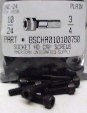 #10-24x3/4 Hex Socket Head Cap Screws Alloy Steel Black (37)