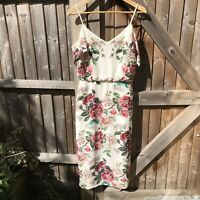 Oasis Museum of Royal Worcester Floral Midi Dress Size 10 VGC