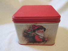 """Vintage POTPOURRI PRESS TIN Holiday Santa Christmas Metal Tin  3.5"""" x 4.5"""""""