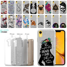 """For Apple iPhone XR 6.1"""" Sparkling Silver TPU Silicone Case Phone Cover"""