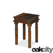 Maharajah Indian Rosewood Tall Lamp Table - Solid Wood Side Stained Waxed Finish
