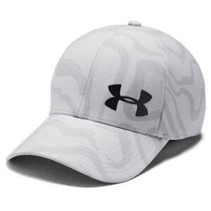 Under Armour Armourvent Printed Cap UA Mens Airvent Core Stretch Fit Hat M/L