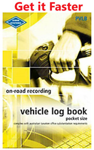 Zions Vehicle Motor Car Log Record Journal Bo0k ATO Compliant 64 Page - PVLB