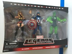 Marvel Legends Infinite Collectors Edition 3 Pack Ms. Marvel Captain America MOC