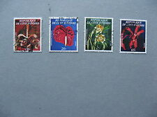 IVORY COAST, set stamps 1977,  used, flowers