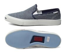 SIZE UK 8.5 Men's Converse Jack Purcell Blue Slip On Shoes Trainers