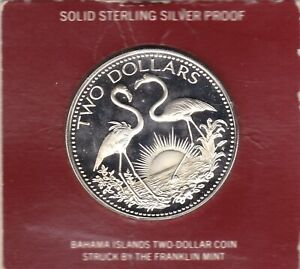 Bahamas  1975  Large  40mm   Crown  -  Silver  (92.5%)  Coin